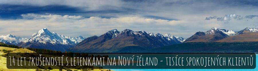 Letenky na Nový Zéland - 14 let zkušeností