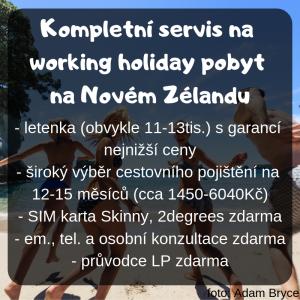 Kompletní servis na Working holiday na Novém Zélandu