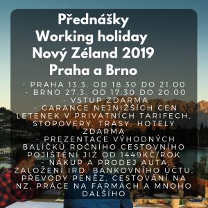 Přednáška Working Holiday Praha a Brno
